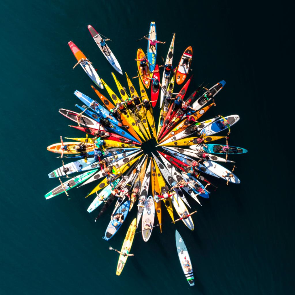 Kayak Group Photo Cluster